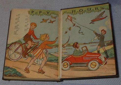 Wheels and Wings Childrens Old Vintage School Reader Book