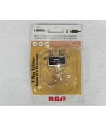RCA 2 Way Splitter #VH47N - TV - CBL - ANT 5-900 MHz - $6.00