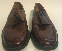 Bostonian Mens Brown Leather Lace Up Dress Shoes sz 9 Made in Italy - $32.73