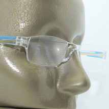 Reading Glasses Frameless Chic Blue Multi Side Arms +1.00 Lens - $18.00