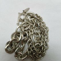 "Talbot's Toggle Bracelet Silver Tone 7"" - $15.83"