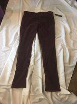 Joe's Jeans Joe Chelsea Velour Skinny Pants Size 31 Maroon Merlot Wine R... - $65.00
