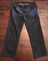 Calvin Klein Womens Jeans Black Stretch Slim Skinny Fit Size 32/14 blingy pocket - $18.70
