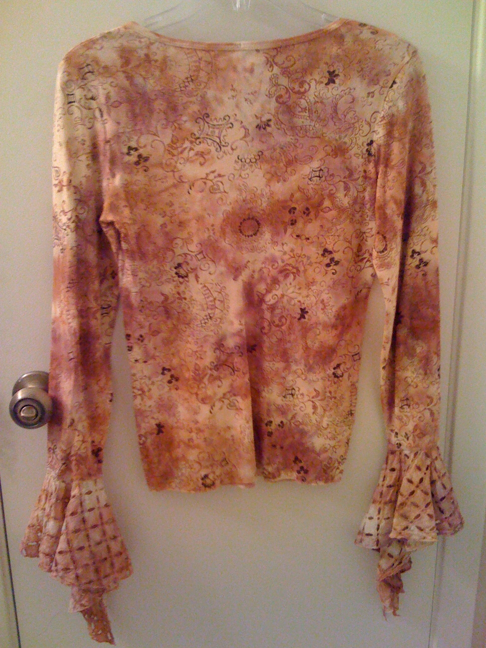 BEBE rare top blouse shirt Made in USA NEW flared sleeves
