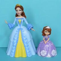 "Disney Junior Sofia The First Purple Dress 3"" & Mom Blue Dress 5.5"" Figure Lot - $8.95"