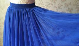 ROYAL BLUE High Waist Tulle Skirt Bridal Bridesmaid Skirt Layer Full Tulle Skirt image 7