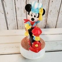 Schmid Disney Mickey Mouse Music Box Player I've Been Working On The Railroad - $18.81