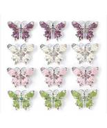 Brooches Elegant bejeweled butterfly  pinsby th... - $47.88