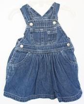 baby GAP newborn (Stage 2) 3-6 Mo Denim Dress Overalls White Stitching S... - $14.84