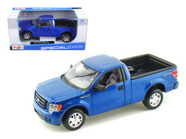 2010 Ford F-150 STX Pickup Truck Blue 1/27 Diecast Model by Maisto - $31.66