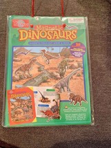 T.S. Shure Magnetic Dinosaurs Board & Book Dinosaur Magnets Fold Out Sce... - $12.86