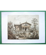 ARCHITECTURE COLOR PRINT : Germany Berling Villa of Muller Family - $43.88