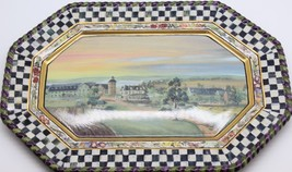 Mackenzie Childs MACLACHLAN Courtly Check Pottery Serving Large Platter ... - $688.05