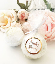 25 Personalized Silver Rose Gold Foil Bath Bomb Bridal Shower Wedding Favor - $119.34