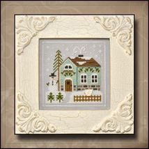 Snowman's Cottage Frosty Forest #3 cross stitch chart Country Cottage Needlework - $5.40