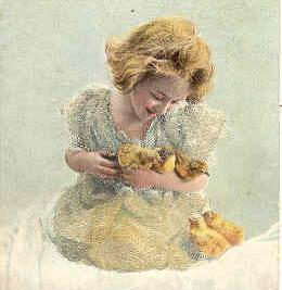 Easter Greetings Vintage Post Card