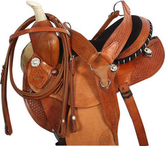14 15 16 PREMIUM GAITED WESTERN PLEASURE TRAIL BARREL HORSE SADDLE TACK ... - $427.06
