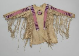 Men Native American Buckskin Beige Buffalo Leather Beaded Powwow War Shirt NA264 - $299.00