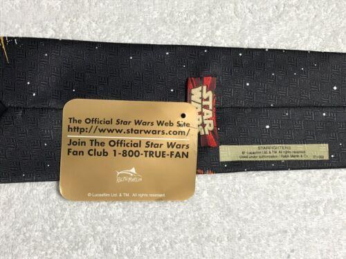 Ralph Marlin Black Star Wars Starfighters Classic Novelty Neck Tie Vintage Mens