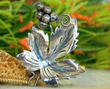 Vintage taxco mexico sterling leaf grapes brooch pin eagle 3 thumb155 crop