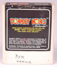 Donkey Kong Atari Game Cartridge-Video Game~Vintage 1982-Nintendo-Coleco... - $4.89