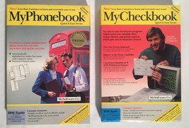 Lot Of (2) MySoftware Co. VINTAGE SOFTWARE In Box MyPhoneBook MyCheckBoo... - $19.79