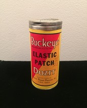 Vintage Buckeye (elastic patch) Dozit tin packaging