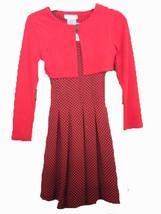 Bonnie Jean 2pc long sleeve print dress SIZE 8 - $16.73