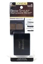 Loreal Brow Stylist Prep & Shape Pro Kit #387 Medium to Dark 0.12 oz - $12.86