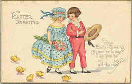 Easter Greetings Vintage Post Card - $5.00