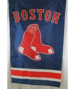 "Boston Red Sox 2 Sided 44.5"" x 27"" Applique & Banner, Flag - $19.79"