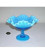 Westmoreland American Hobnail Compote Blue Opalescent - $24.95