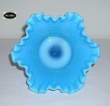 Westmoreland American Hobnail Compote Blue Opalescent image 3