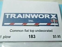 Trainworx Stock #183 Snowplow Common Flat Top  Undecorated N-Scale image 2