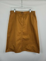 Orvis A-Line Skirt Rust Brown Front Pockets Women's Size 12  - $14.80