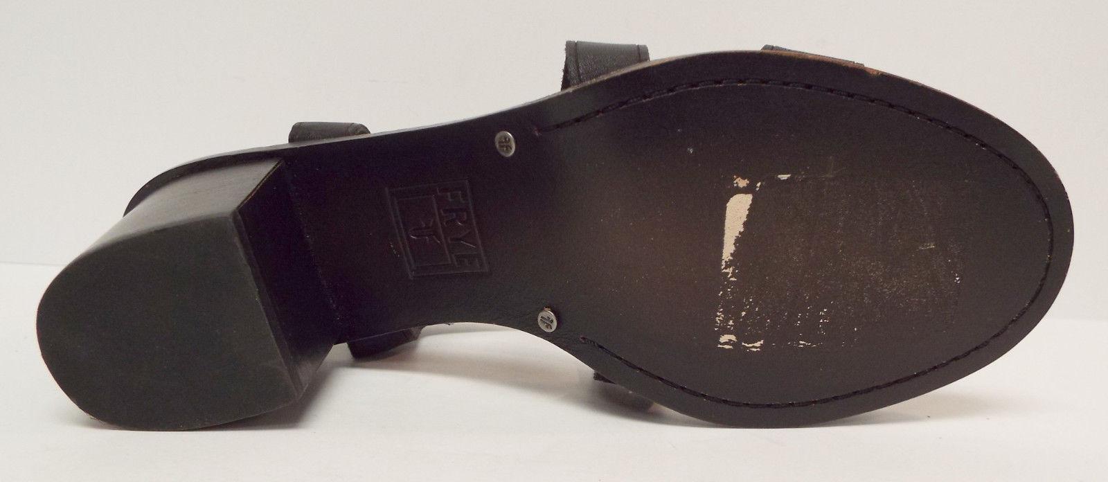 New FRYE Company Size 8.5 BRIELLE Black Cris Cross Sandals Shoes 3472149