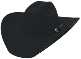 Bullhide Delta Dawn 4X Wool Cowgirl Hat Truman Crown Studded Brim Black - $81.00