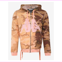 Faith Connexion Kappa Orange Camo Laced Hoodie, Small - $510.12