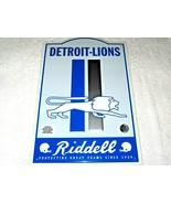 "NFL Detroit Lions Retro Tin Sign Man Cave Wall Bar Decor  17.5"" H x 11.5"" W - $17.77"