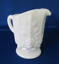 Westmoreland Glass, Creamer, Paneled Grape, Milk Glass, PG-13, Line 1881 - $11.00