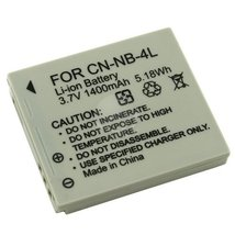 NB-4L NB4L Compatible Li-Ion Battery Pack for Canon PowerShot SD1400 IS ... - $5.83