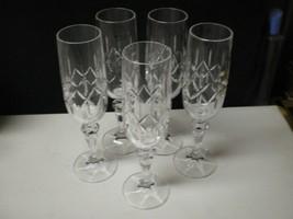 5 ROYAL IRISH CRYSTAL CHAMPAGNE FLUTES~~rare set~~ - $39.99