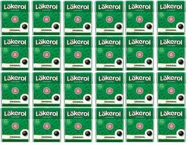 Cloetta Läkerol Originl Sugar Free Licorice Menthol Candy 25g * 24 pack 21oz - $49.50