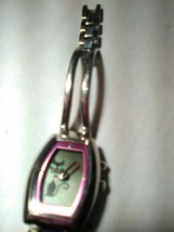 Fossil Big Tic( Kool Kitty) Pink  Dial Stainless Steel Watch Working New... - $23.95