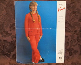 Vintage Emu Double Knitting Patterns GIRLS TOP and TROUSERS PANTS  Bust 24 - 34  - $4.99