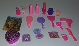 Vintage Barbie Vanity Accessory Lot 19 Mattel Purple Pink Mini Diorama B... - $13.99