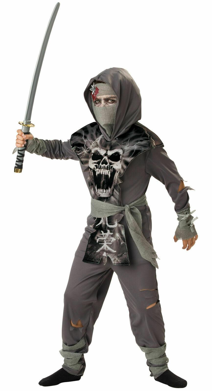 Incharacter Zombie Ninja Krieger Skelett Kinder Halloween Kostüm CB92002