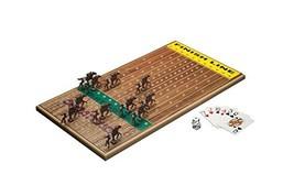Across The Board Horseracing Gametop, Walnut - $110.50