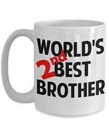 World's 2nd Best Brother Coffee Mug Gift Funny Sayings Quotes - £12.87 GBP
