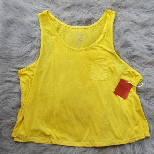 c04ead595982f Mossimo Womens Yellow Crop Top Pocket Tank and 50 similar items. 12